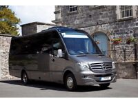 From £50 - Manchester minibus hire with qualified driver. Airports, Races, Football, Tours, Full Day