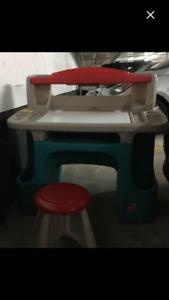 Step 2-Little Tikes desk and stool