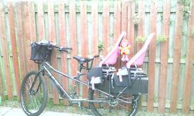 Kona Ute Cargo bike +2 child seats