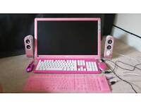 Pink LG slim full HD 22 monitor