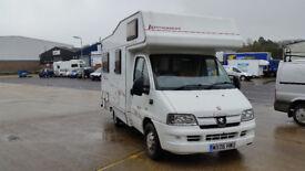 PEUGEOT BOXER 330 LX SWB HDI Diesel, 2006, 4 Berth, Manual, MOT until 03/2018,.