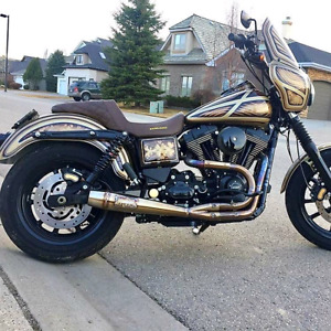 BEAUTIFUL!  2014 Full Custom Harley Dyna FXDL Low Rider LOW KMS