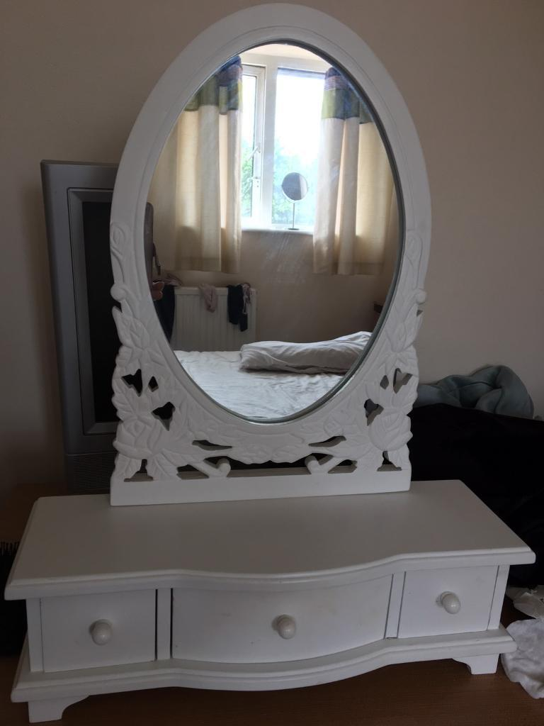 Beautiful table top dressing mirror with 3 drawer