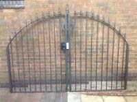 Pair iron gates
