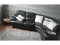 Fenwicks brown corner leather sofa