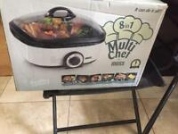 Multi chef 8 in 1 slow cooker/fryer/roast/grill & more