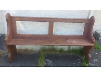 Original Antique Pitch Pine Church Pew, Settle, Bench, Seating - Need of TLC.