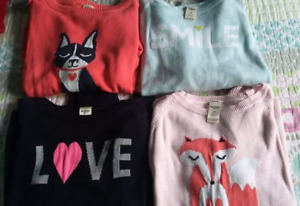 4 Osh Kosh Sweaters - Girl's Size 10 (fit more like an 8)