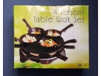 4 PERSON TABLE WOK SET (RRP £40)