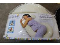 Bargain Clearance Maternity & Nursing - Summer Ultimate Comfort Body Pillow - Smoke & Pet FREE Home