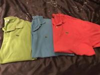 3 x men Lacoste polo t-shirts