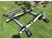 Volvo V50 roof bike rack for 2 bikes. Everything you need to carry bikes on your car roof