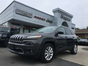 2016 Jeep Cherokee LIMITED,4X4,ALLOYS,LEATHER,HTD SEATS