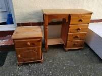 Pine dresser & drawers