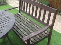 Garden benches and chairs, repairs needed