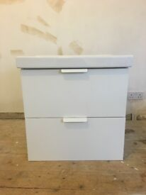 Large Victoria plum wall mounted sink unit VGC.