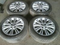 2011 corsa alloy wheels 16 inch good condition good tyres