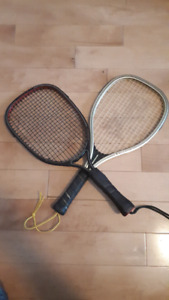2 racquetball racquets- Olympian and Black Knight