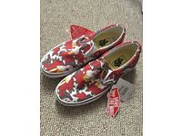 Size 5 Belle from beauty and the beast Vans plimsolls/trainers BNWT