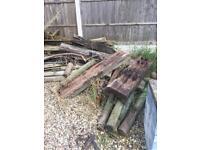 Free scrap wood including half sleepers