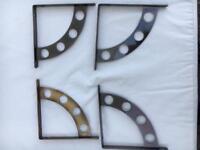 Set of 2 pairs contemporary shelf brackets