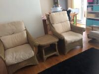 Conservatory chairs and table: in very good condition
