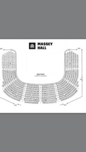 Fleet Foxes August 5th Massey Hall Seat 121