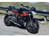 Triuph Street Triple R ABS 2014 Black/Red +Extras