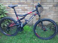 B twin rockrider mountain bike (not carrera trek giant)