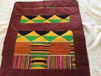 Genuine Ghanaian Set of table mats,napkins and rings in ethnic patterns
