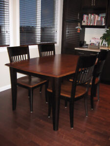 Dinec Solid Wood Table/4 Chairs