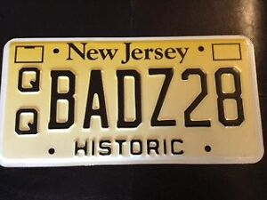 BAD Z28 New Jersey Vanity Plate