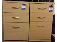 Large collection of office furniture. Desks, chairs, pedestals, cabinet, shelves, etc.