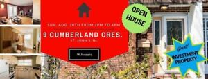 OPEN HOUSE 9 Cumberland Cres.