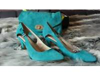 Gorgeous suede matching shoes and bag new