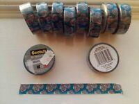 Scotch Expressions Floral Washi Tape 15mmx 10m (10 BRAND NEW ROLLS)