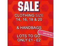 Ladies clothing £1