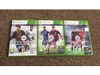 Fifa 14,15 & 16 Xbox 360 games