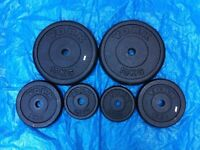 35kg set of YORK CAST IRON WEIGHT PLATES