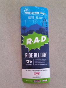 Westerner Days Ride All Day Pass 2017