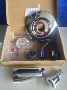 Handle, Tub & Shower - trim only NEW in Box Chrome