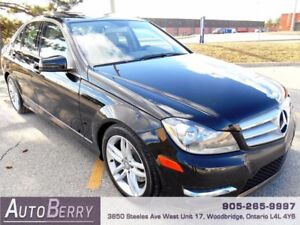 2013 Mercedes-Benz C-Class 4MATIC **CERT ETEST ACCIDENT FREE**