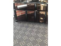 Tv table black tinted