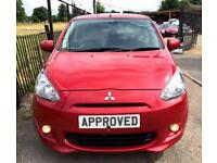 MITSUBISHI MIRAGE 1.2 3 5d AUTO 79 BHP Apply for finance Online toda (red) 2014