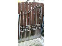 Heavy iron gates. (proper heavy gates)