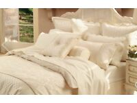 SHERIDAN CREAM VANILLA DAMASK FULL BED LINEN SET BRAND NEW