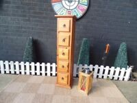 JALI SHESHAM TALL CHEST OF DRAWERS WITH 5 DRAWERS EXTREMELY SOLID UNIT AND IN EXCELLENT CONDITION