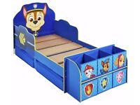 Ex display Paw Patrol Cube Toddler Bed Frame - Blue