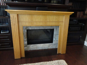Oak Fireplace Mantle - In Very decent Shape -Very solidly Made