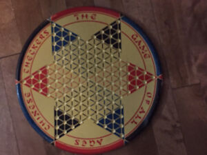 Vintage tin Chinese checkers board